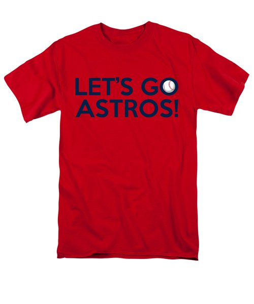 Let's Go Astros Men's T-Shirt  (Regular Fit) by Florian Rodarte