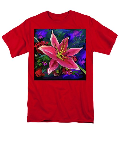 Men's T-Shirt  (Regular Fit) featuring the painting Lily by DC Langer