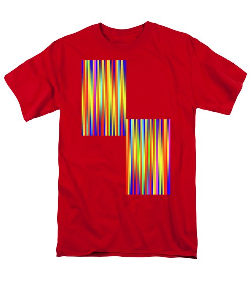 Men's T-Shirt  (Regular Fit) featuring the digital art Lines 17 by Bruce Stanfield