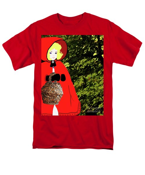 Little Red Riding Hood In The Forest Men's T-Shirt  (Regular Fit) by Marian Cates