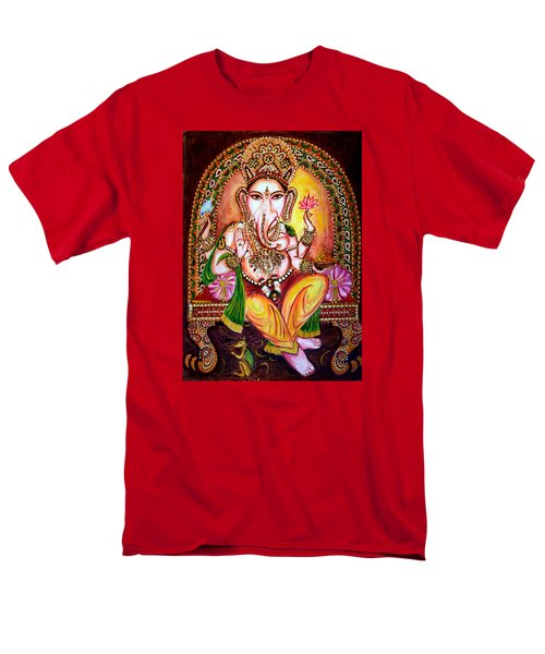 Men's T-Shirt  (Regular Fit) featuring the painting Lord Ganesha by Harsh Malik