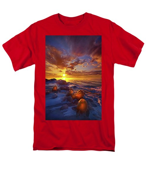 Men's T-Shirt  (Regular Fit) featuring the photograph Lost Titles, Forgotten Rhymes by Phil Koch