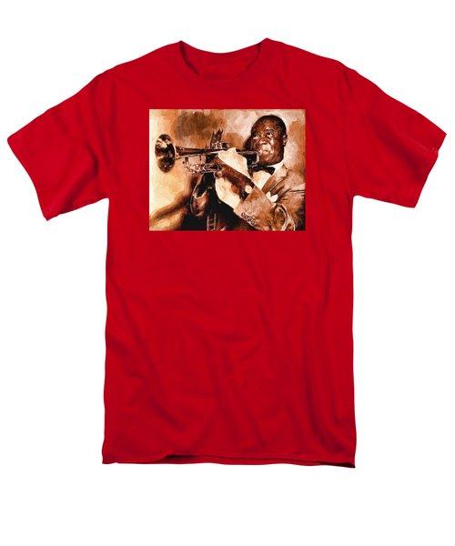 Louis Armstrong Men's T-Shirt  (Regular Fit) by Louis Ferreira