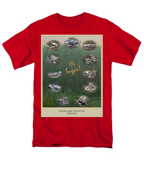 Louisiana Sugar Cane Poster 2008-2009 Men's T-Shirt  (Regular Fit) by Ronald Olivier