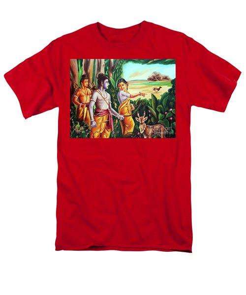 Love And Valour- Ramayana- The Divine Saga Men's T-Shirt  (Regular Fit) by Ragunath Venkatraman