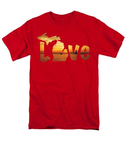 Love Lake Michigan Men's T-Shirt  (Regular Fit) by Emily Kay
