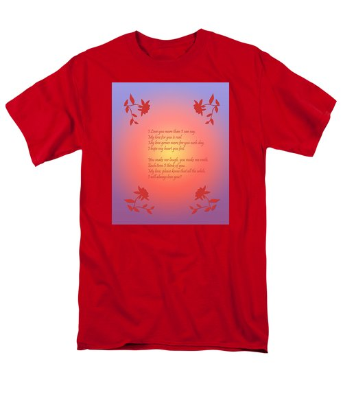 Love Poetry Men's T-Shirt  (Regular Fit) by Karen Nicholson