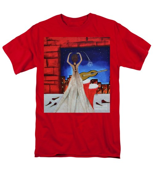 Men's T-Shirt  (Regular Fit) featuring the painting Love To Dance 002 By Saribelle Rodriguez by Saribelle Rodriguez