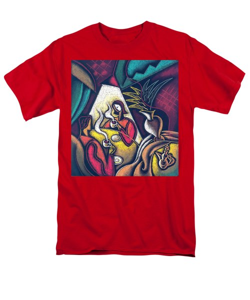 Men's T-Shirt  (Regular Fit) featuring the painting Loving Relationship by Leon Zernitsky