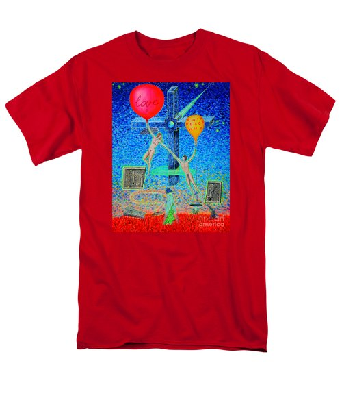 Men's T-Shirt  (Regular Fit) featuring the painting L.v P. by Viktor Lazarev