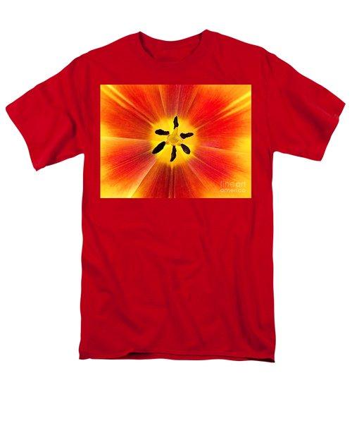 Macro Tulip Men's T-Shirt  (Regular Fit) by Elizabeth Dow