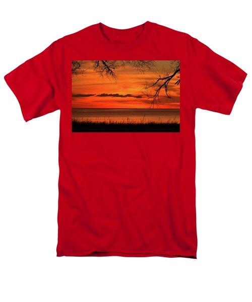 Magical Orange Sunset Sky Men's T-Shirt  (Regular Fit)