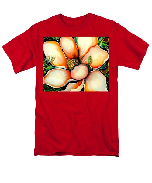 Men's T-Shirt  (Regular Fit) featuring the painting Magnolia by Yolanda Rodriguez