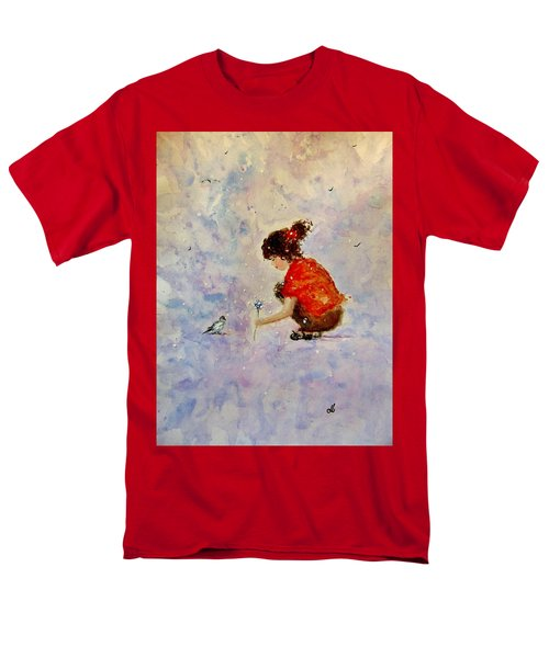 Men's T-Shirt  (Regular Fit) featuring the painting Make A Wish 20 by Cristina Mihailescu