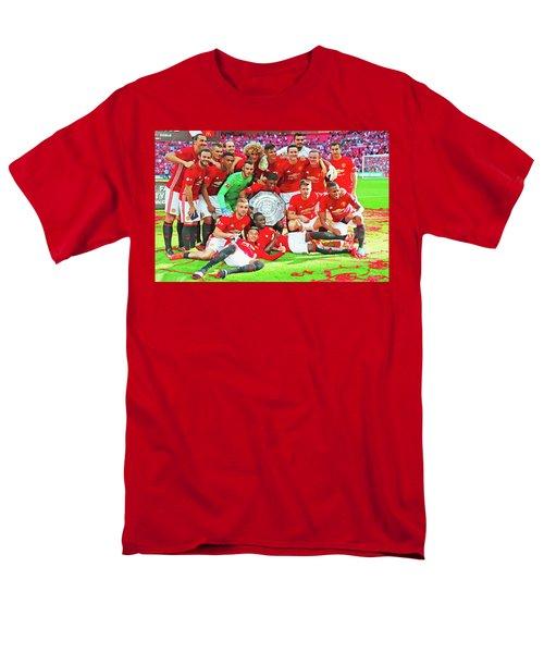 Manchester United Celebrates Men's T-Shirt  (Regular Fit) by Don Kuing