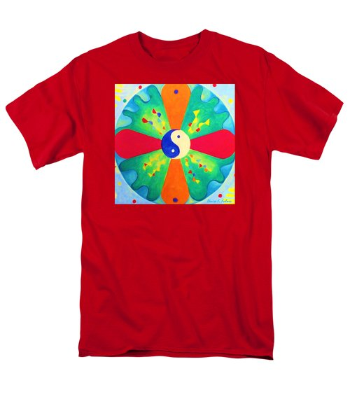 Men's T-Shirt  (Regular Fit) featuring the painting Mandala by Denise Fulmer