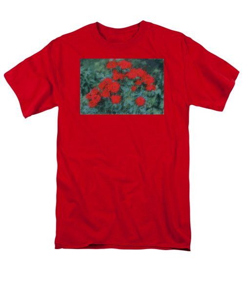 Marilyn's Red Roses Men's T-Shirt  (Regular Fit) by The Art Of Marilyn Ridoutt-Greene