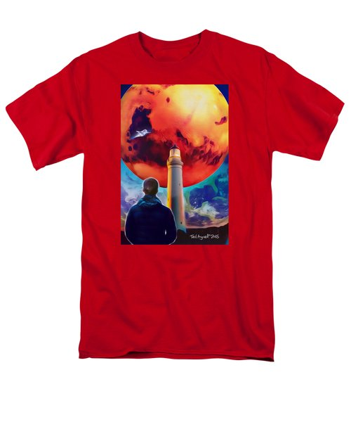 Men's T-Shirt  (Regular Fit) featuring the painting Mars Dreamer by Ted Azriel
