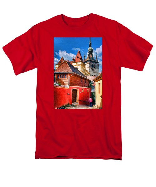 Men's T-Shirt  (Regular Fit) featuring the photograph Medieval Sighisoara by Dennis Cox WorldViews