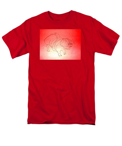 Men's T-Shirt  (Regular Fit) featuring the drawing Meishan Sow 3 by Larry Campbell