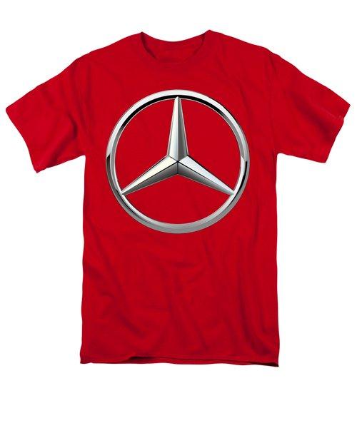 Mercedes-benz - 3d Badge On Red Men's T-Shirt  (Regular Fit) by Serge Averbukh