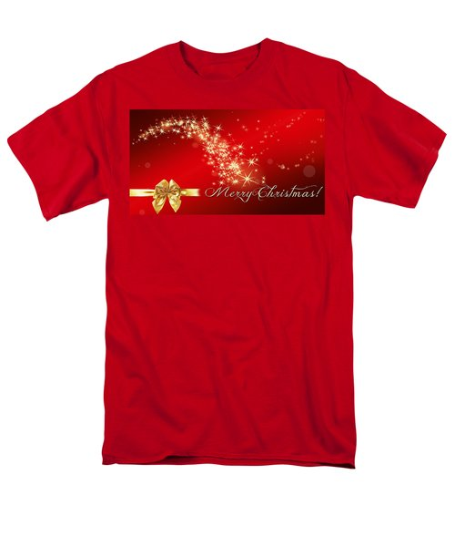Merry Christmas Christmas Card Men's T-Shirt  (Regular Fit) by Bellesouth Studio