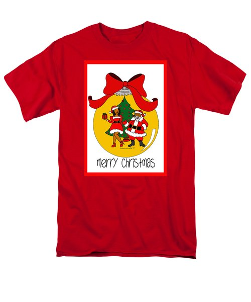 Merry Christmas Men's T-Shirt  (Regular Fit) by Diamin Nicole