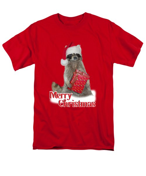 Merry Christmas -  Raccoon Men's T-Shirt  (Regular Fit) by Gravityx9 Designs