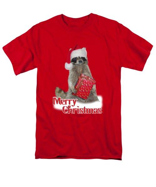 Merry Christmas -  Raccoon Men's T-Shirt  (Regular Fit)
