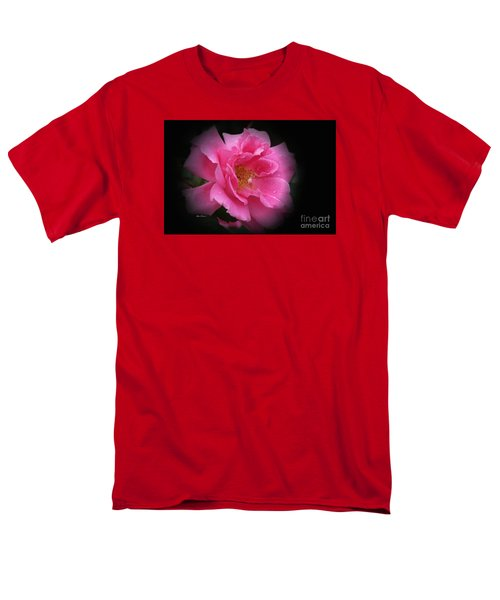 Men's T-Shirt  (Regular Fit) featuring the photograph Midnight Rose by Yumi Johnson