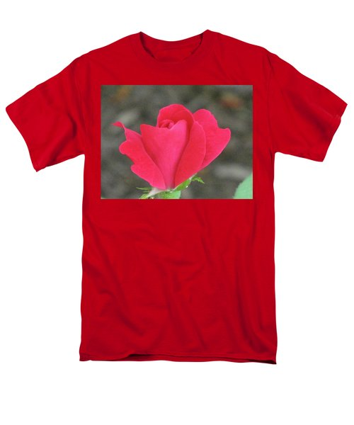 Misty Red Rose Men's T-Shirt  (Regular Fit) by Michele Wilson