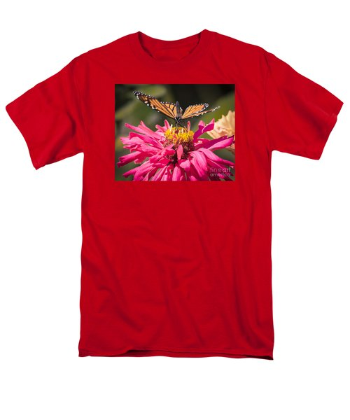 Men's T-Shirt  (Regular Fit) featuring the photograph Monarch On The Last Days Of Summer by Ricky L Jones