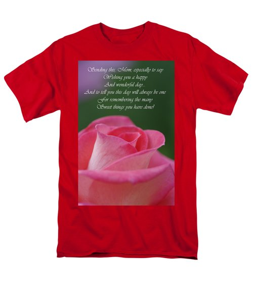 Men's T-Shirt  (Regular Fit) featuring the photograph Mother's Day Card 3 by Michael Cummings