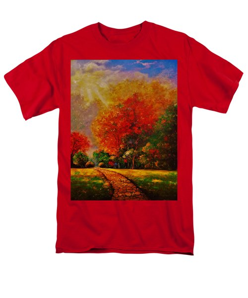 Men's T-Shirt  (Regular Fit) featuring the painting My Favorite Park by Emery Franklin