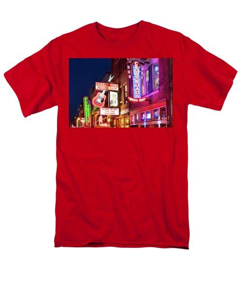 Men's T-Shirt  (Regular Fit) featuring the photograph Nashville Signs by Brian Jannsen