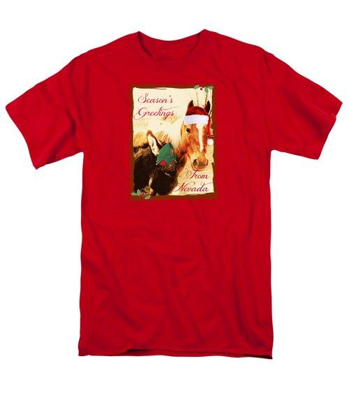 Nevada Greetings Men's T-Shirt  (Regular Fit) by Bobbee Rickard