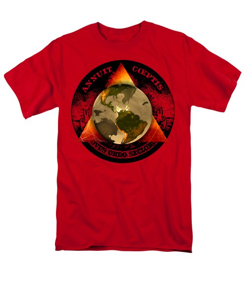 New World Order By Pierre Blanchard Men's T-Shirt  (Regular Fit) by Pierre Blanchard