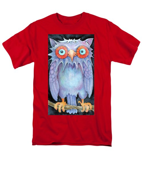 Men's T-Shirt  (Regular Fit) featuring the painting Night Owl by Lora Serra