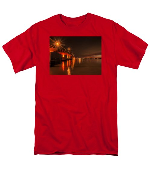 Night Time Reflections At The Bridge Men's T-Shirt  (Regular Fit) by Dorothy Cunningham