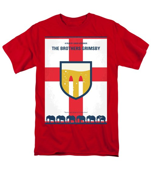 Men's T-Shirt  (Regular Fit) featuring the digital art No741 My Grimsby Minimal Movie Poster by Chungkong Art