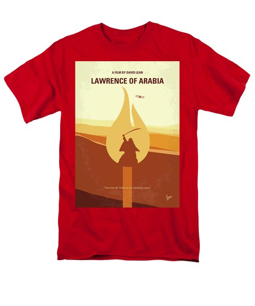 Men's T-Shirt  (Regular Fit) featuring the digital art No772 My Lawrence Of Arabia Minimal Movie Poster by Chungkong Art
