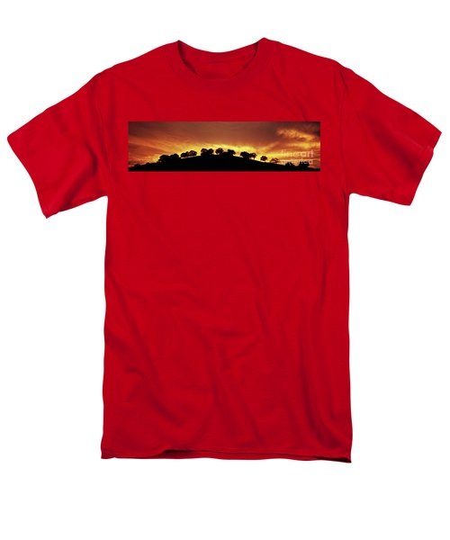 Men's T-Shirt  (Regular Fit) featuring the photograph Oaks On Hill At Sunset by Jim and Emily Bush