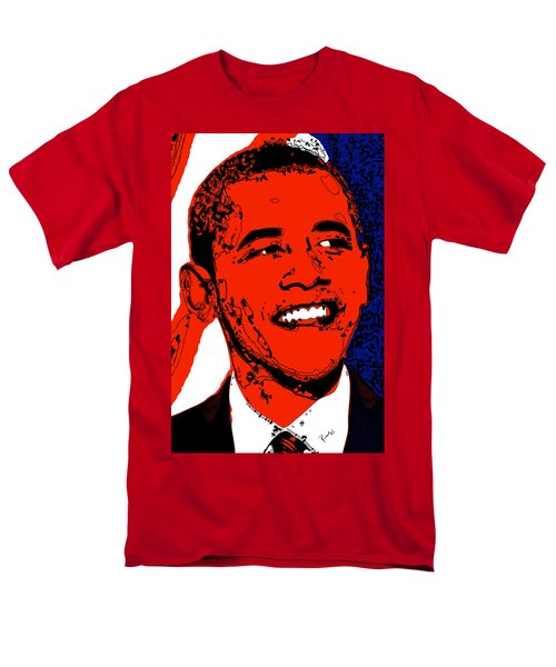 Men's T-Shirt  (Regular Fit) featuring the digital art Obama Hope by Rabi Khan