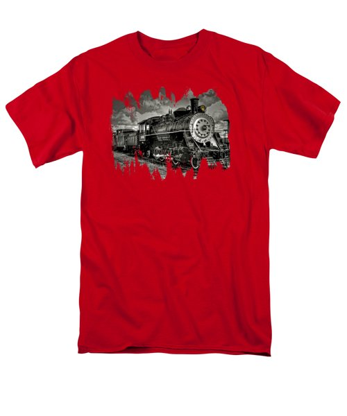 Old 104 Steam Engine Locomotive Men's T-Shirt  (Regular Fit) by Thom Zehrfeld