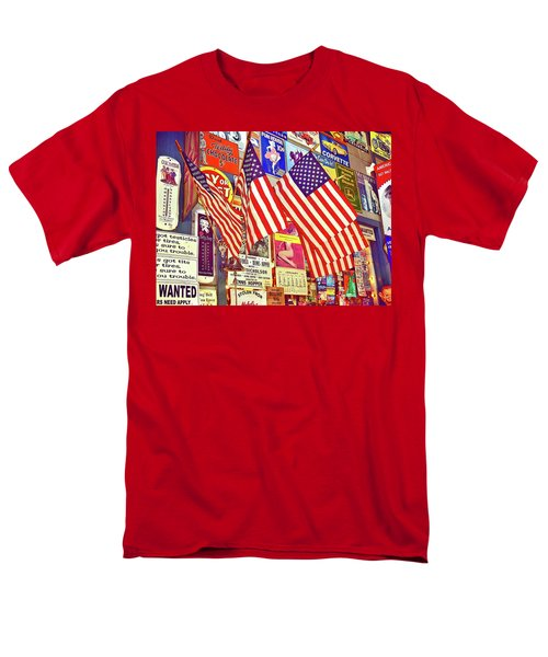 Old Glory Men's T-Shirt  (Regular Fit) by Joan Reese