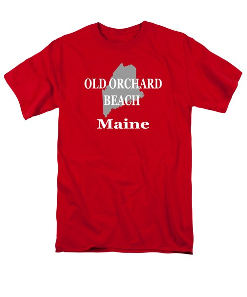 Men's T-Shirt  (Regular Fit) featuring the photograph Old Orchard Beach Maine State City And Town Pride  by Keith Webber Jr