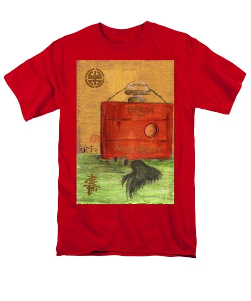 Men's T-Shirt  (Regular Fit) featuring the painting Opium by P J Lewis