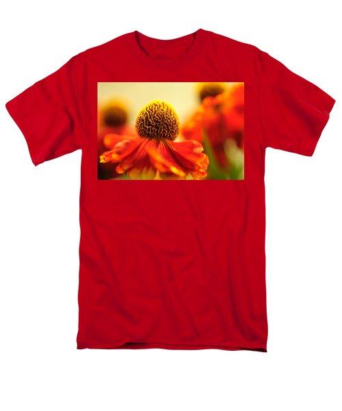 Men's T-Shirt  (Regular Fit) featuring the photograph Orange Glow. Rudbeckia Macro by Jenny Rainbow