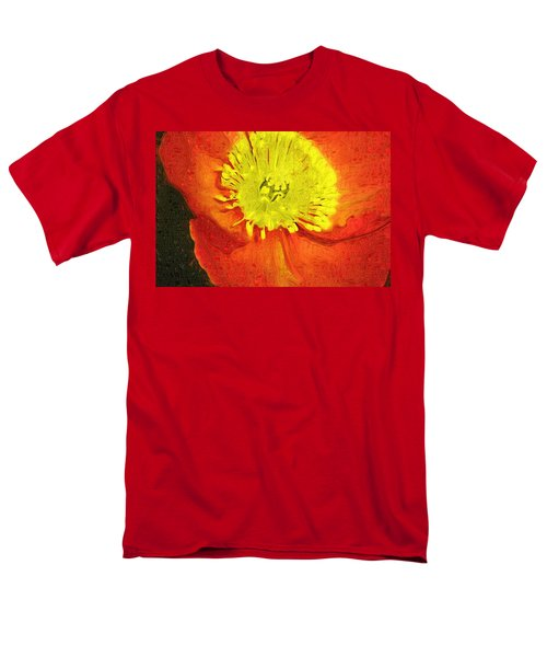 Men's T-Shirt  (Regular Fit) featuring the photograph Orange Poppy by Donna Bentley
