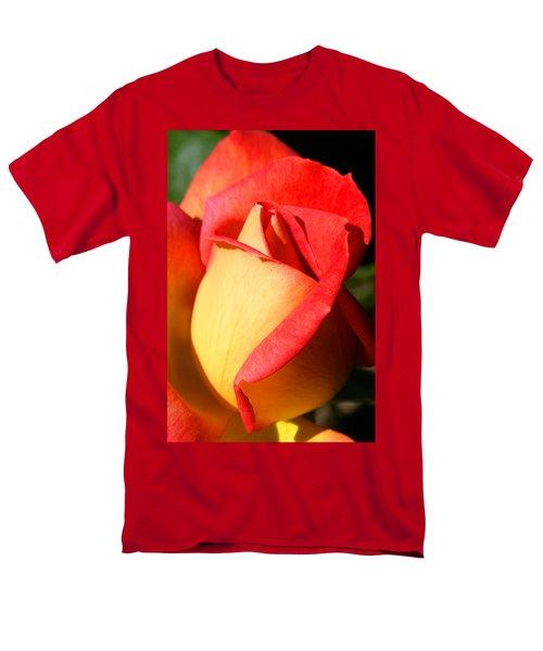 Orange Rosebud Men's T-Shirt  (Regular Fit) by Ralph A  Ledergerber-Photography